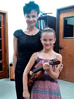 With Ella at studio recital (2014)
