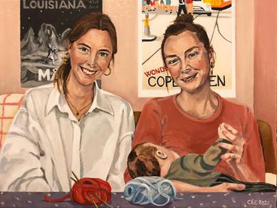 Søstre med baby 2021