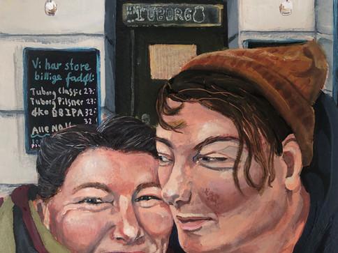 """Glimpse of Love"" nr. 2, Lokdown projekt  2020, Akryl på papir,"