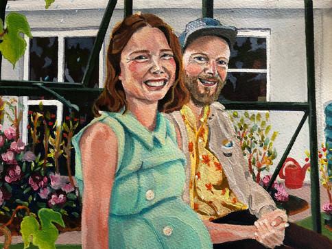 """Glimpse of Love"" lokdown projekt 2020, Akryl på papir, A4"