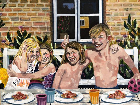 """""""Glimpse of Love"""" nr. 7, Lokdown projekt  2020, Akryl på lærred 30x40 cm"""