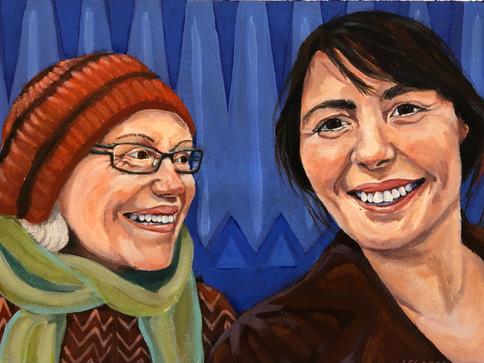 Mor og datter i NYC.
