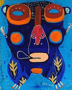 maske,maskekunst,nativeart,urbanart,akrylmaleri,rawart