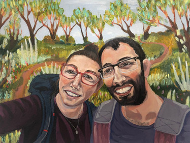 """Glimpse of Love"" lokdown projekt nr 6.  2020, Akryl på papir, A4"