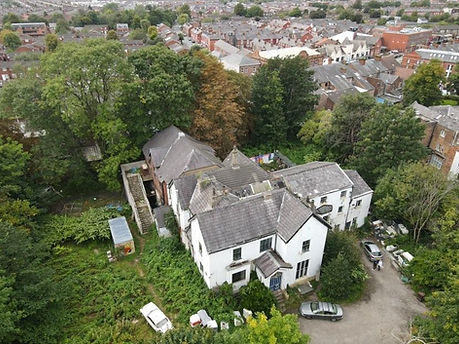 Aerial View of Antwerp Mansion