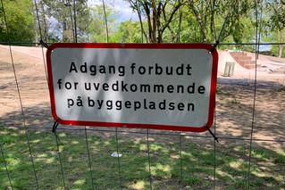 Adgang forbudt i Remiseparken