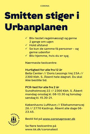OBS! Smitten stiger i Urbanplanen og Hørgården