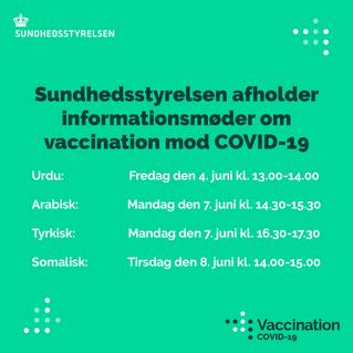 Informationsmøder om vaccination på flere sprog