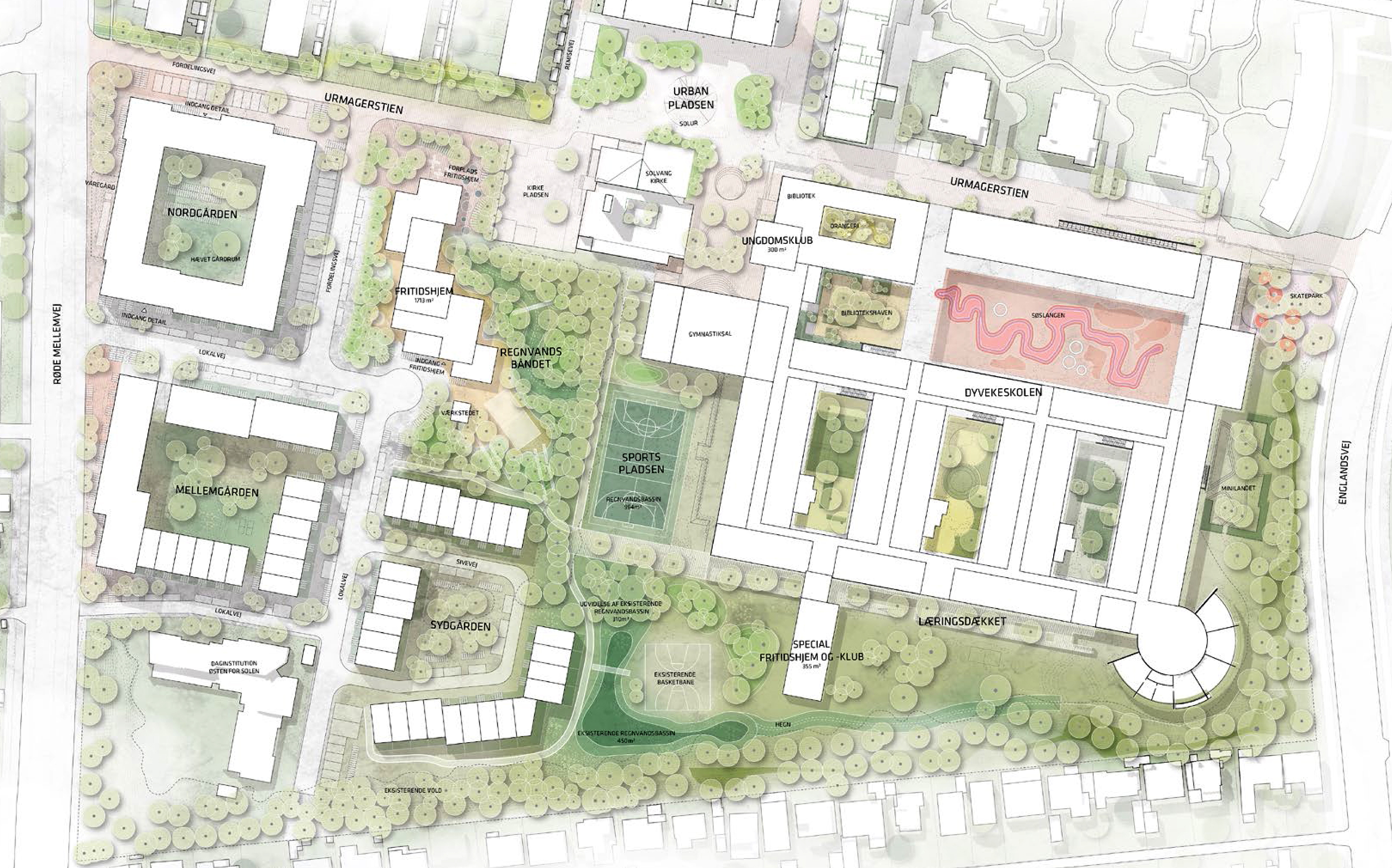 Urbanplanen Syd oversigt