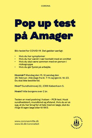 Bliv testet for COVID-19 på Sundholm  – find invitationen oversat flere sprog her