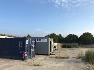 SOLVANG GRUNDEN: Containere flyttet ind på byggeplads