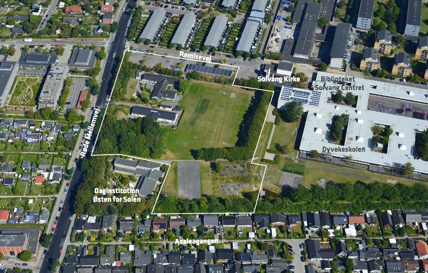 Luftfoto af Urbanplanen syd set fra syd