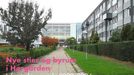Nye stier og byrum i Hørgården – få overblik her