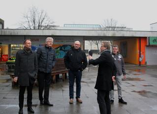 Kulturborgmester på regnfuld visit