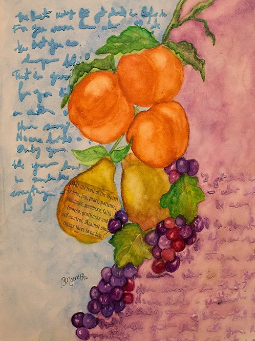 Fruit of the Spirit Card Half Fold