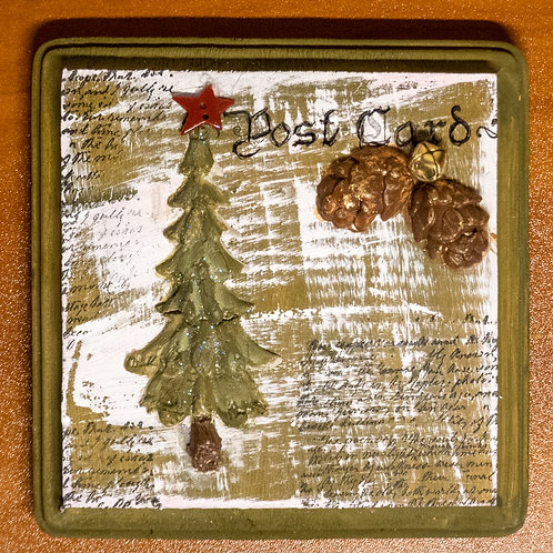 Chrimstmas Tree Postcard Craft