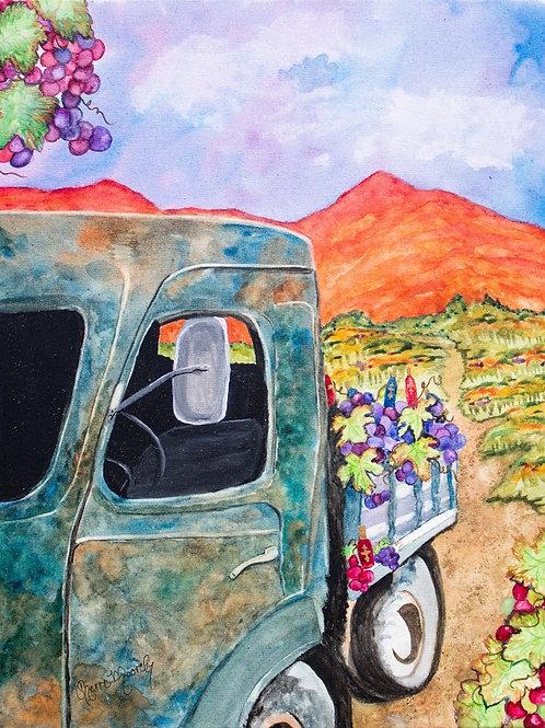 Vineyard Truck Print