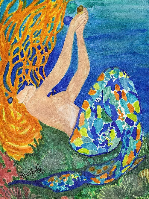 Sea glass Mermaid Print