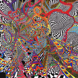 O quantum est in rebus inane, 120x120,  ink on paper, 2013