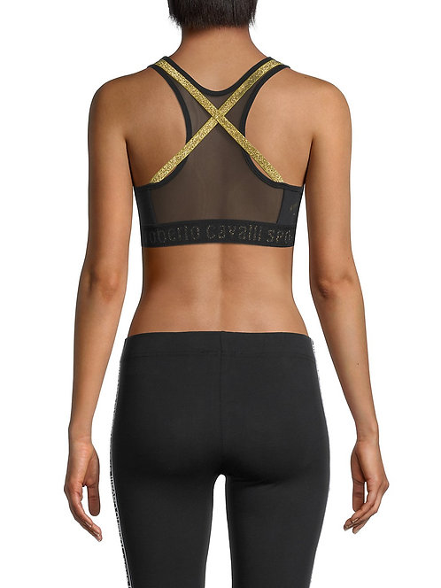 Sports Bra w/ Metallic Straps