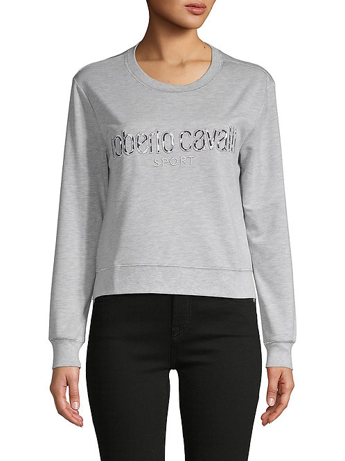 Embroidered Sweatshirt w/ Metallic Stitching
