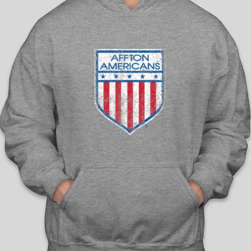 Distressed Logo Heavy Blend Hooded Sweatshirt