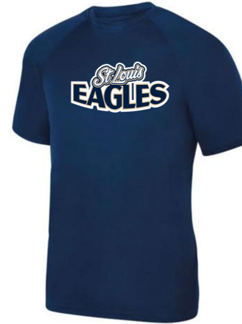 Eagles Navy Short Sleeve Performance Shirt
