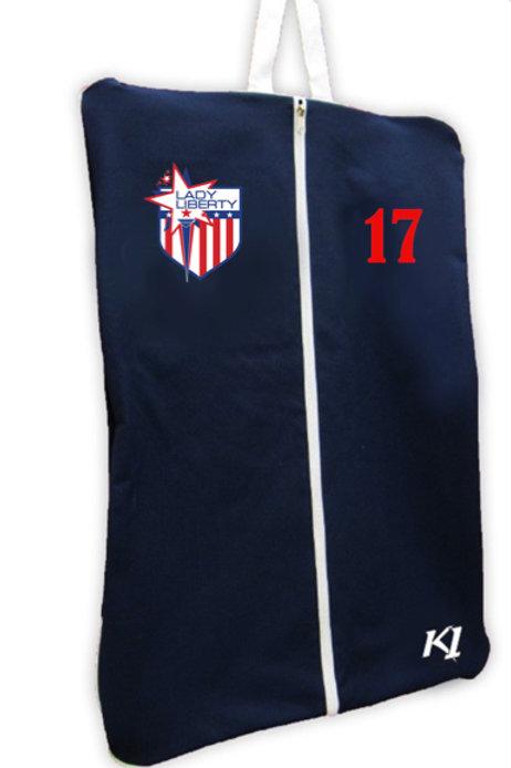 Lady Liberty K1 Garment Bag w Number