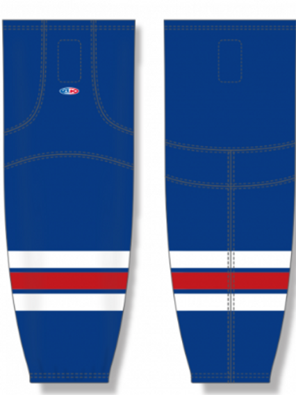 Royal (away) house/travel hockey socks