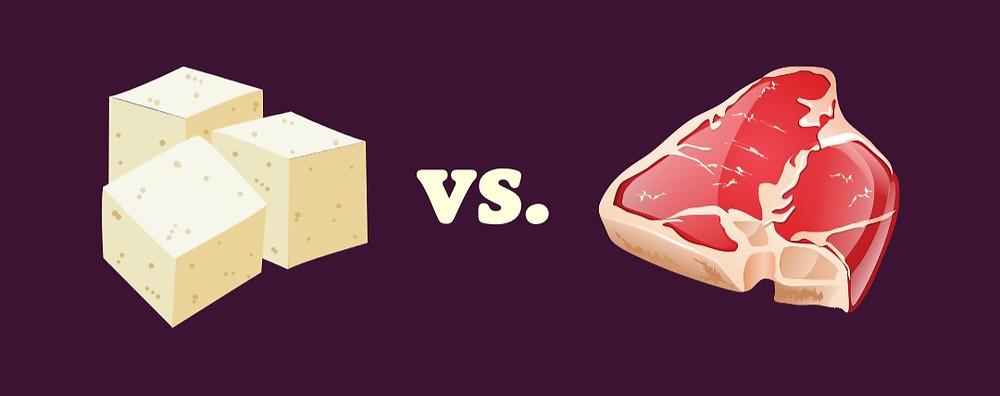 Tofu vs. Fleisch