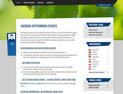 ascrion Brokerage landing page