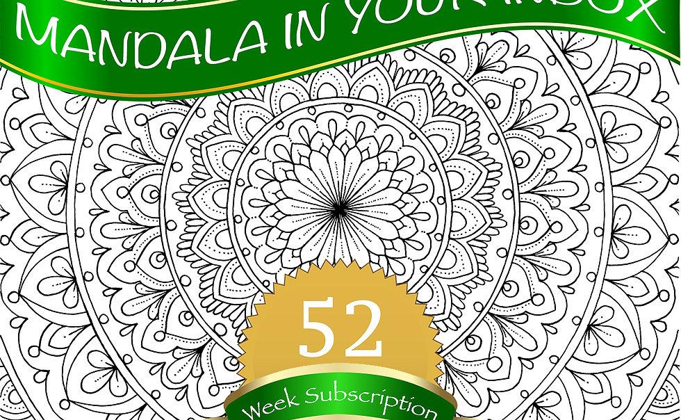 52 Week Mandala Coloring Page subscription