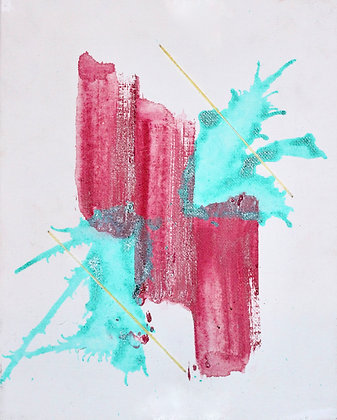 Flash Fear Painting Pink & Teal