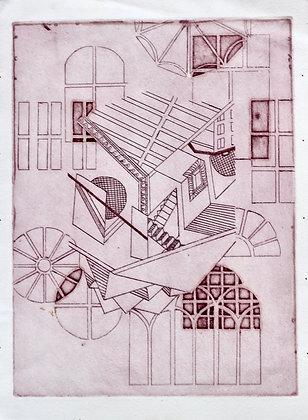 An Escherism (Magenta)