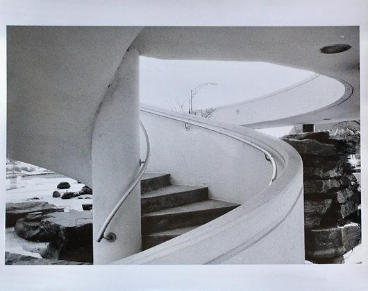 Darkroom Photograph Spiral Stairs