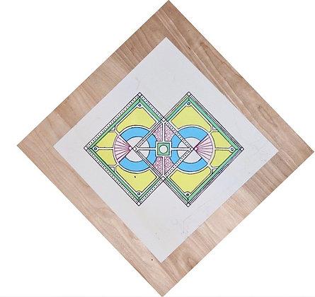 Screenprint Wooden Geometric Mandala