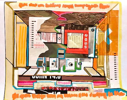 70s Intercom System Collage