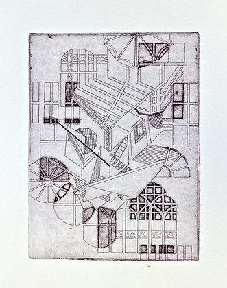 An Escherism (Violet)