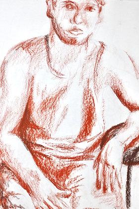 Figure Study in Sepia