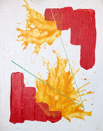 Flash Fear Painting Red & Orange