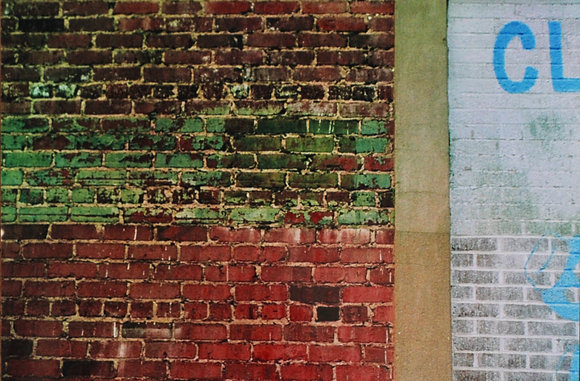 Color Film Brick Wall