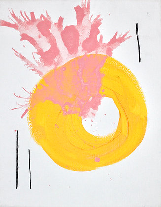 Flash Fear Painting Yellow & Salmon