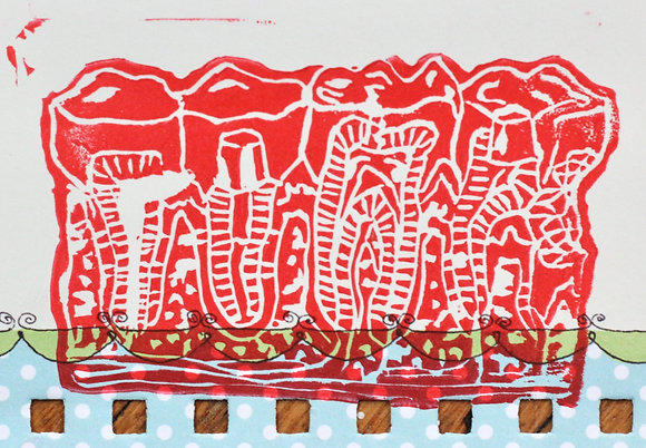 Teeth Print on Punched Paper