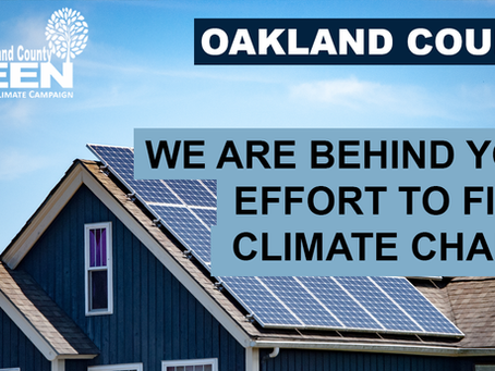 Act Now to Save Climate Action by Oakland County
