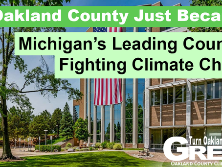 Environmental, grassroots groups praise Oakland County Executive Coulter's Climate Announcement