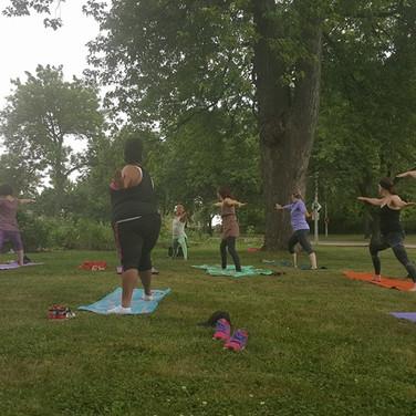 Yoga in Community Gardens