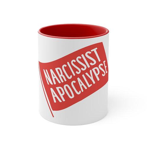 Narcissist Apocalypse - Accent Coffee Mug, 11oz