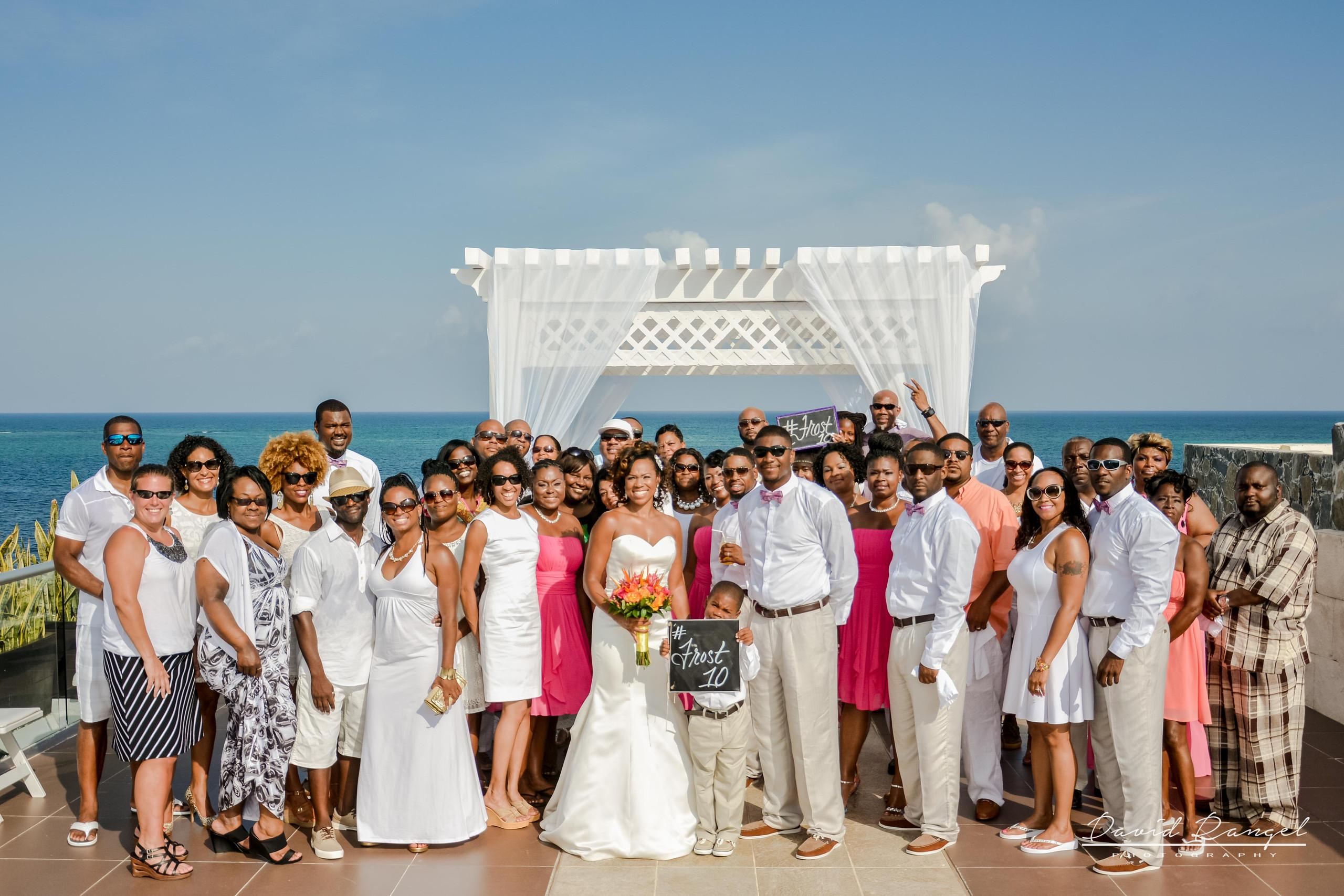 wedding group, sky deck