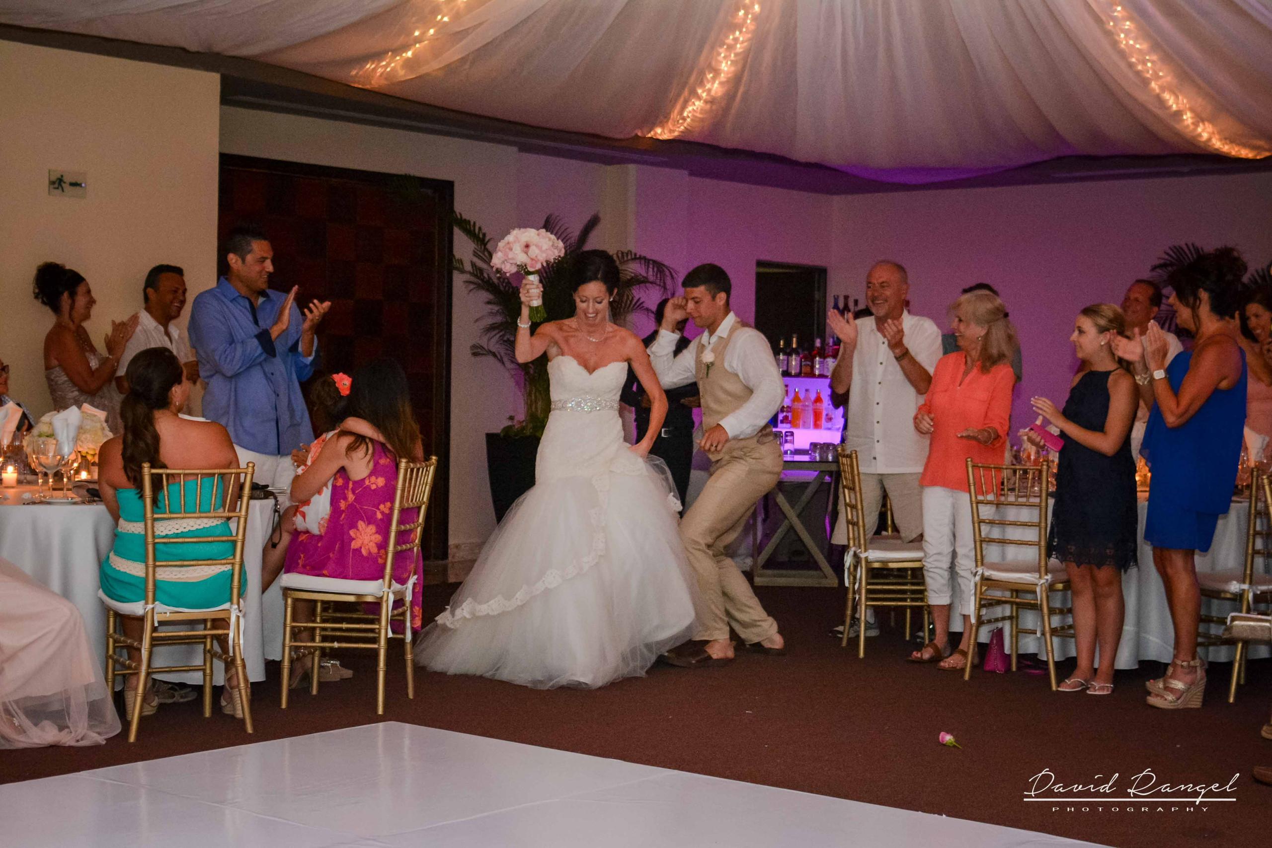 bride+groom+entrance+reception