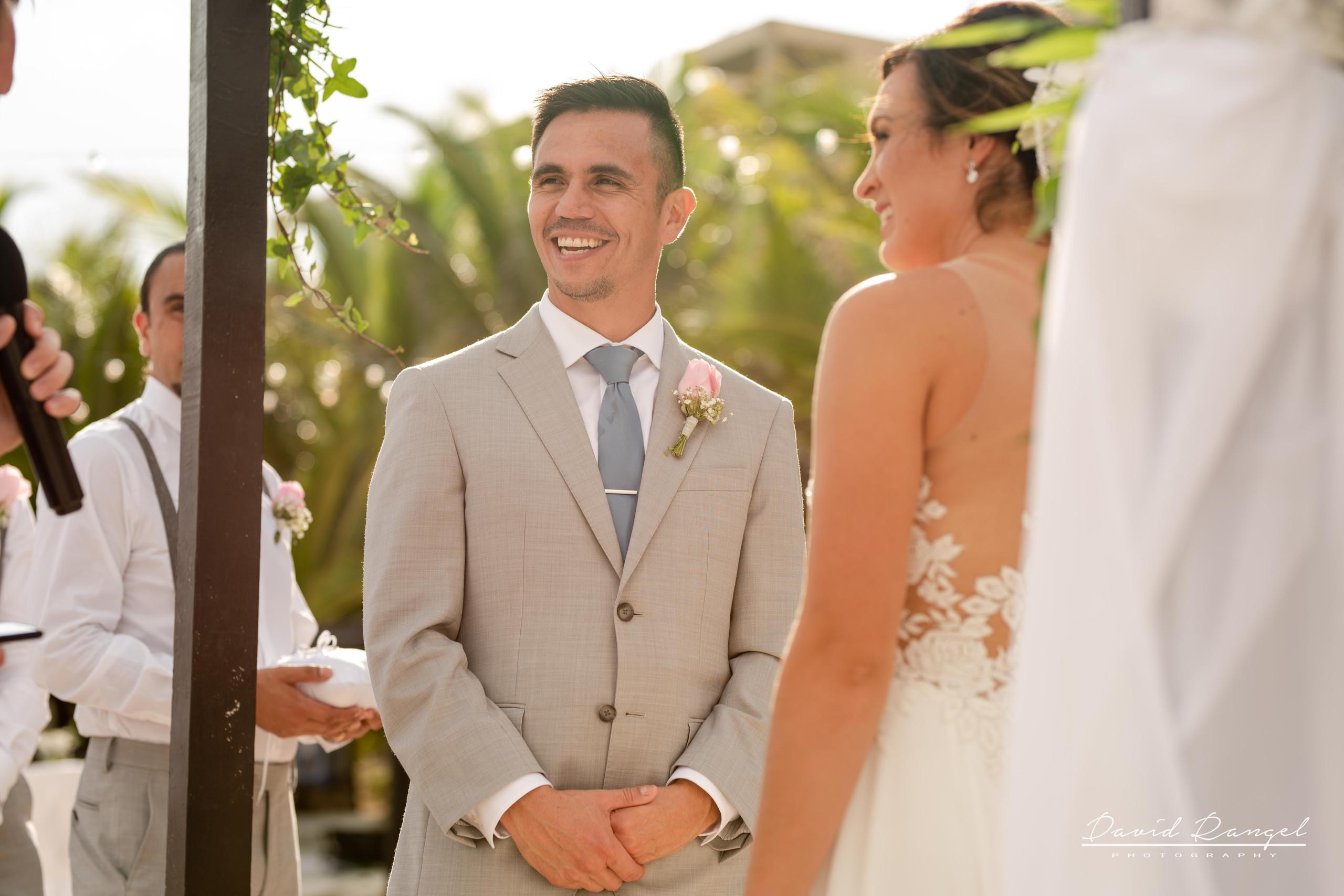 bride+groom+ceremony+gazebo+minister+beach